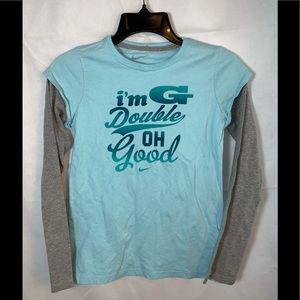 EUC NIKE Youth Girls Xlarge long sleeve shirt